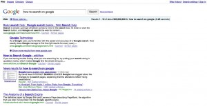 old style google search results layout
